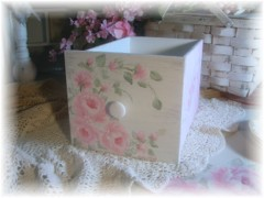 Beautiful Chic Cottage Hand Painted Storage Drawer